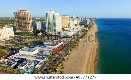 Aerial view of Fort Lauderdale, Florida. #403771279