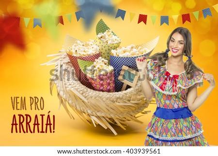 Delicious sweets for the Brazilian Festa Junina Party #403939561