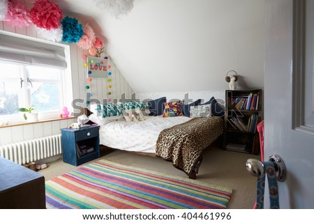 Child's Bedroom In Contemporary Family Home #404461996
