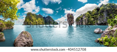 Scenery Thailand sea and island .Adventures and travel concept.Scenic landscape.Seascape Royalty-Free Stock Photo #404512708