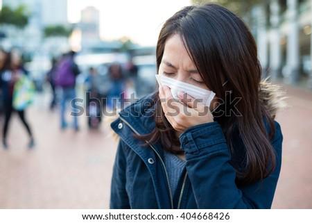 Woman feeling sick #404668426