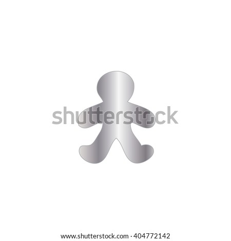 An Icon Illustration Isolated on a Background - Gingerbread Man #404772142