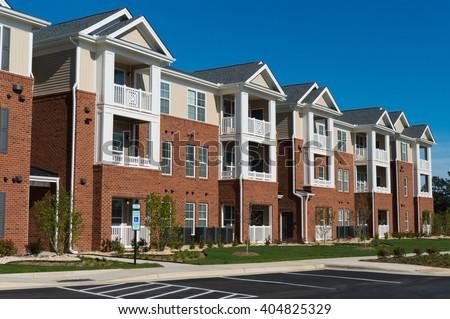 Suburban apartment building #404825329