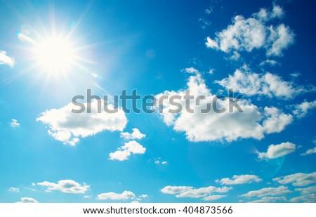 clouds in the blue sky #404873566