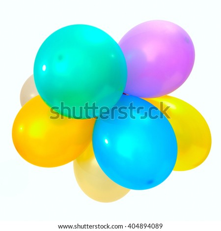 air balloons isolated on white background