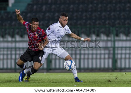 BANGKOK,THAILAND:APRIL;2016:Weslley Smith of Buriram during football Toyota League cup between Army FC and BURIRAM UTD. , at Army Stadium on April 10,2016:Thailand.