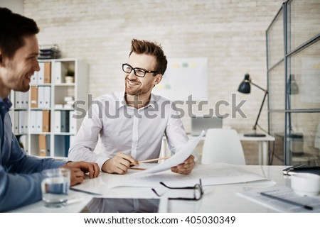 Meeting of businessmen Royalty-Free Stock Photo #405030349