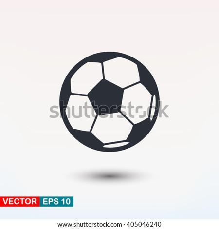 Football vector icon, soccerball
