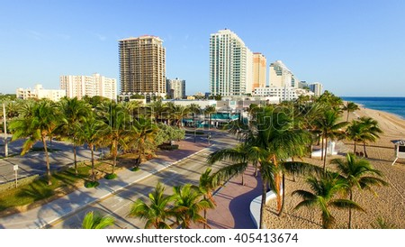 Aerial view of Fort Lauderdale, Florida. #405413674