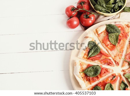 Food. Pizza on the table #405537103
