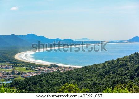 Beautiful Barra da Lagoa Beach in Florianopolis, Brazil. #405691057