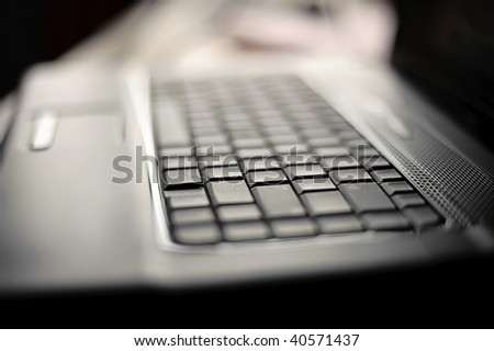 Abstract close-up laptop with shallow DOF #40571437