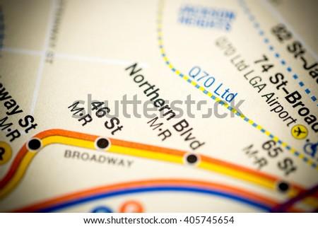 Northern Blvd. 6 Av/Central Park West/Queens Blvd/Myrtle Blvd Li #405745654