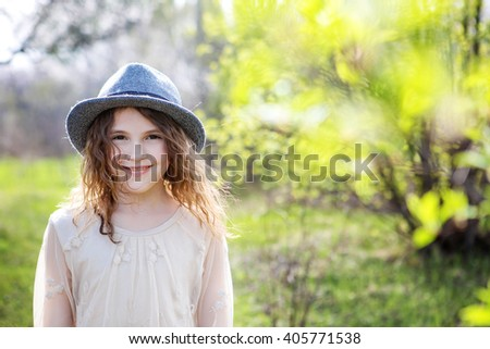 girl in a hat #405771538