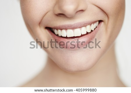 Beautiful toothy smile, close up #405999880