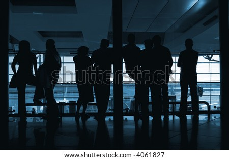 people waiting in the airport #4061827