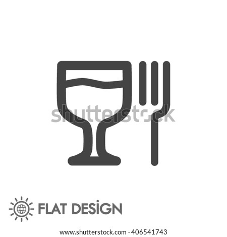 glass fork sausage vector icon Royalty-Free Stock Photo #406541743