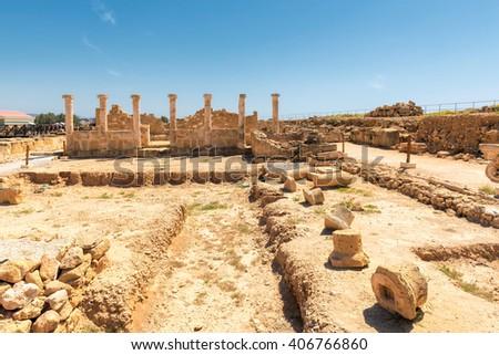 Ancient columns in Paphos Archaeological Park - Cyprus #406766860