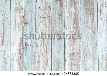 pastel wood wooden white blue With plank texture wall background Through use wash Giving a feeling of looking old and beautiful Royalty-Free Stock Photo #406873885