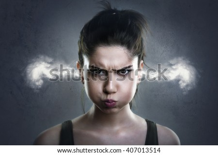 Angry Woman Royalty-Free Stock Photo #407013514