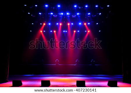 Free stage with lights Royalty-Free Stock Photo #407230141