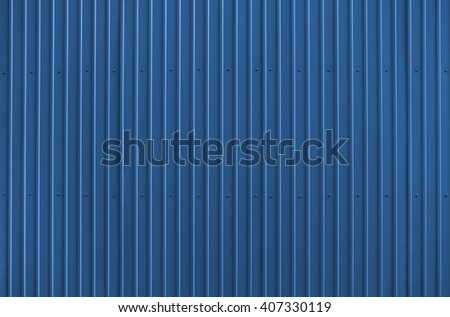 Texture of blue metal roofing #407330119