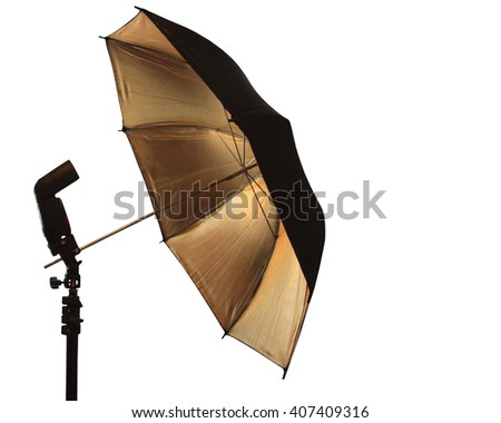 Light stand with flash and umbrella holder
