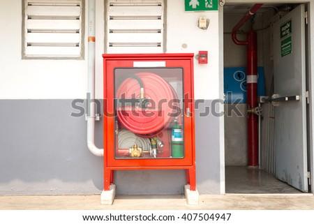 Fire exit door and fire extinguish equipment  #407504947