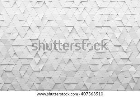 White triangular abstract background, Grunge surface, 3d Rendering