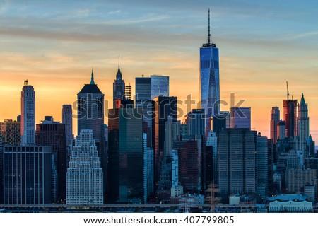 The evolving Downtown Manhattan skyline
