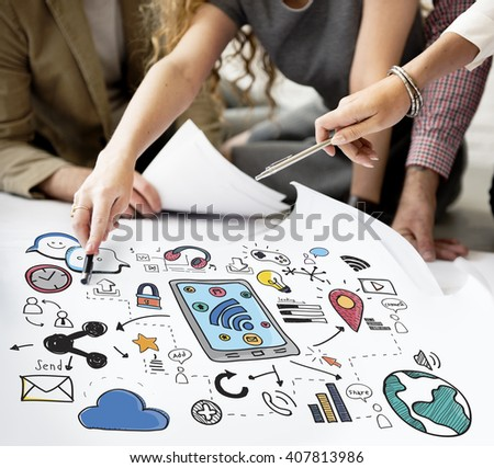 Social Media Networking Communication Connecting Concept #407813986