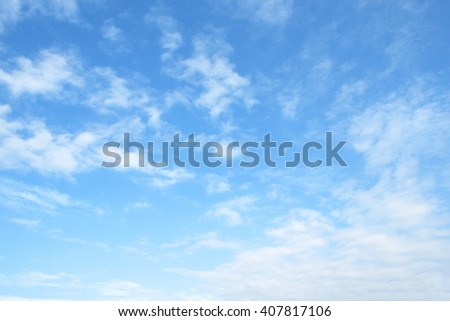 The vast blue sky and clouds sky #407817106