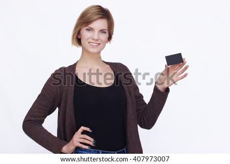 Happy woman portrait #407973007