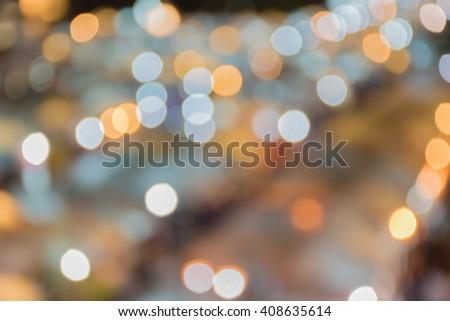 """""""Abstract Light and Blur """" look at people at night market, Bangkok, Thailand. #408635614"""