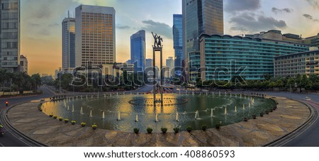 Jakarta officially the Special Capital Region of Jakarta, is the capital of Indonesia. Jakarta is the center of economics, culture and politics of Indonesia #408860593