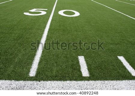 Football Field near the Fifty Yard Line #40892248