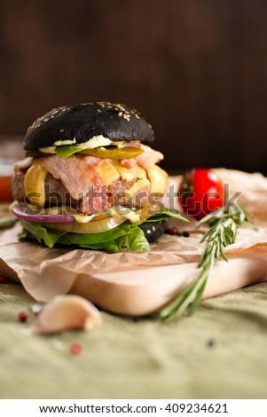 Fresh tasty burger  #409234621