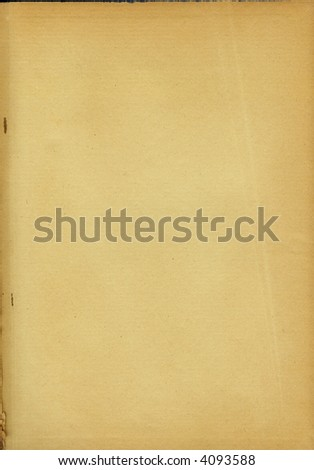 yellowed paper sheet from old book #4093588