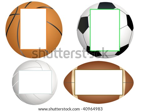 photo frame for a sports theme