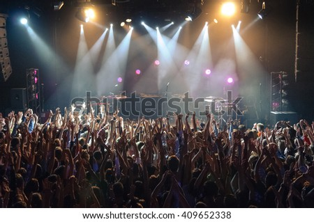 Hand fans during a concert #409652338