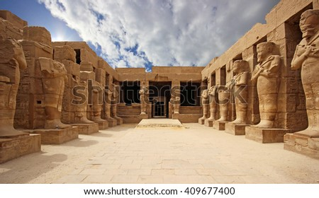 Anscient Temple of Karnak in Luxor - Ruined Thebes Egypt #409677400