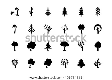 Trees Vector Icons 2 #409784869