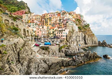 Manarola landscape, Cinque Terre, Italy #410001010
