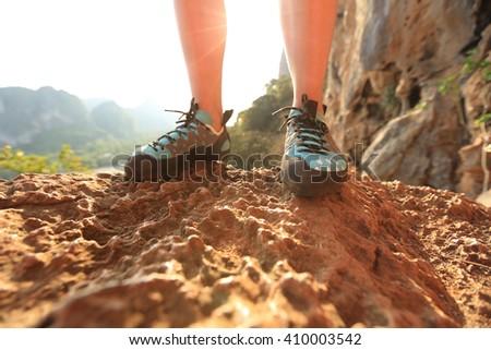 rock climber legs outdoor #410003542
