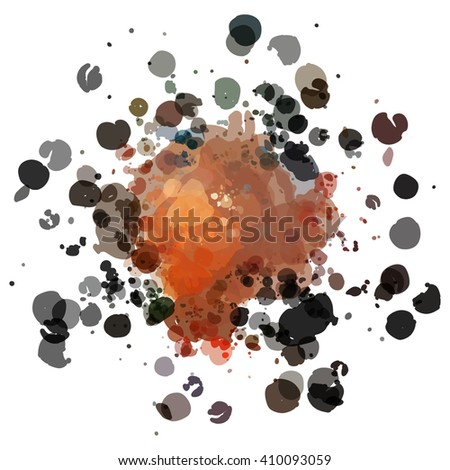 Chaotic colorful dabs, abstract background. Vector element for your design. #410093059