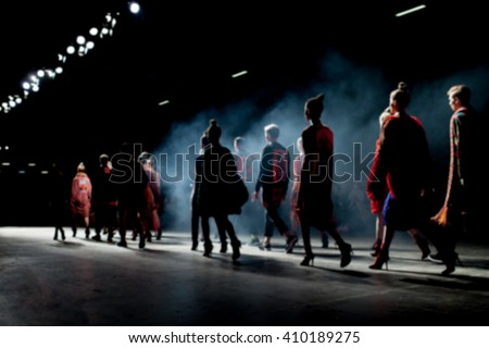 Fashion Show, Catwalk Runway Show Event #410189275