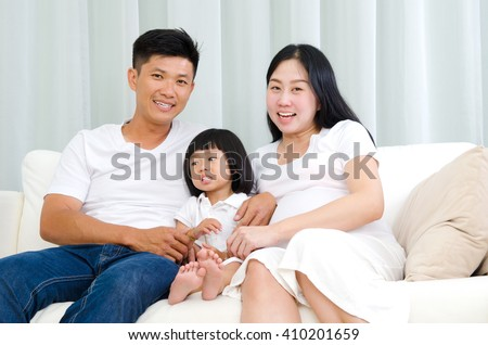 Indoor portrait of asian family #410201659