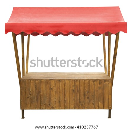 Market stall with awning #410237767