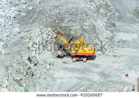 quarry for extraction of minerals, Asbestos, Sverdlovsk region, Russia, 24.04.2016 #410260687