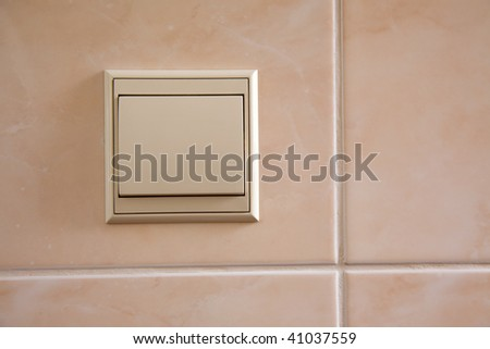 light switch on wall background #41037559